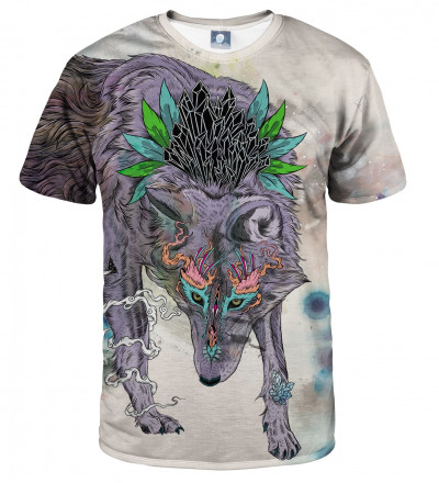 tshirt with wolf motive