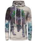 Bluza damska z kapturem Journeying Spirit - Wolf