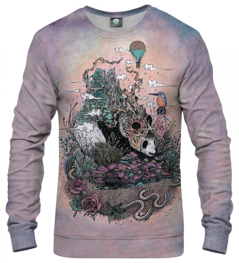 bluza z motywem śpiącej pandy