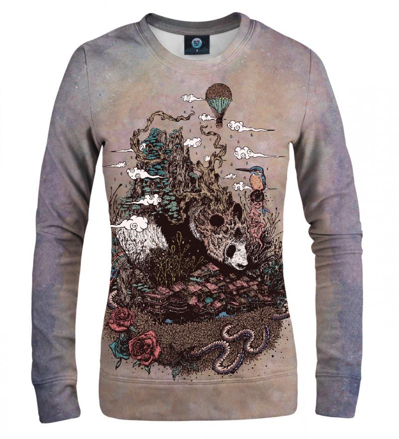 sweatshirt with sleeping panda motive