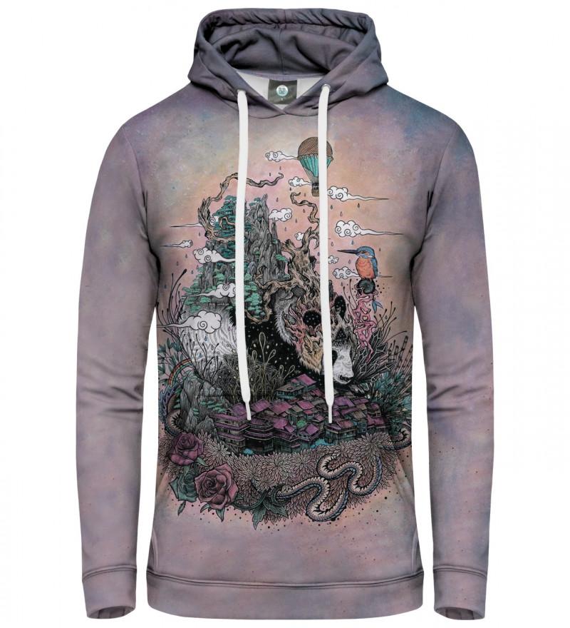 hoodie with sleeping panda motive