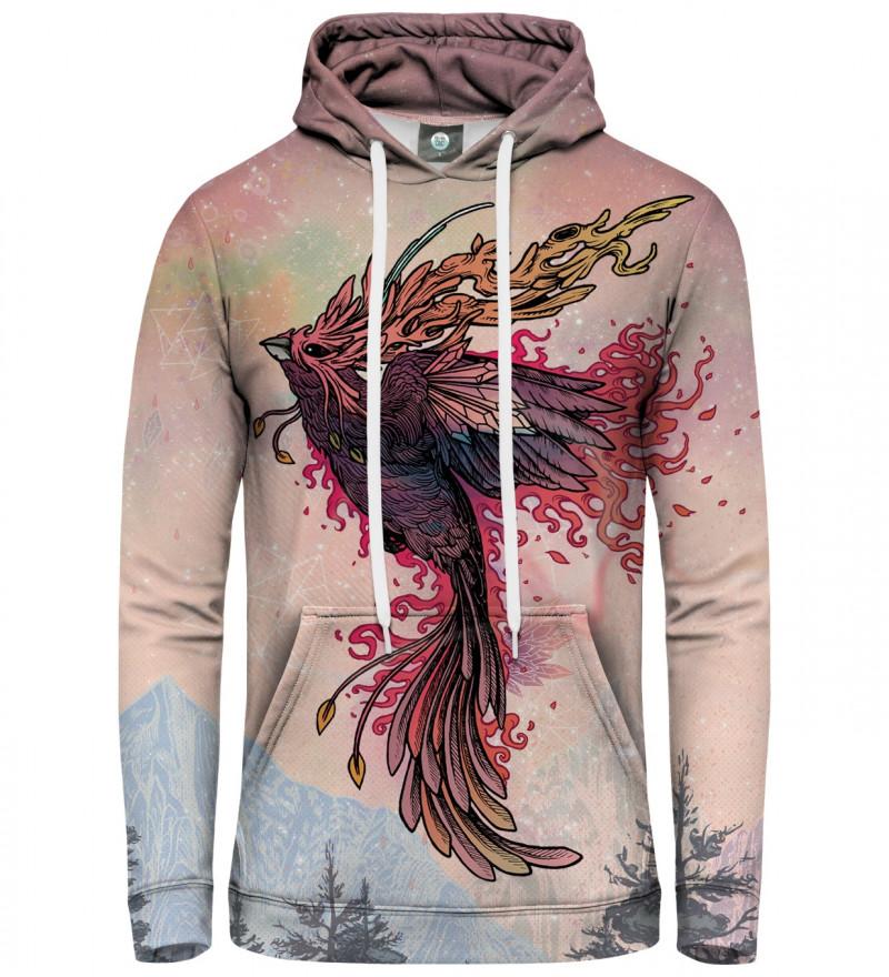bluza z kapturem z motywem feniksa