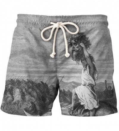 shorts with art motive