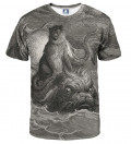 Dore Series - Monkey on a Dolphin T-shirt, by Paul Gustave Doré