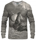 Dore Series - Monkey on a Dolphin Sweatshirt, by  Paul Gustave Doré