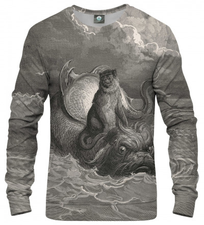sweatshirt wtih art motive
