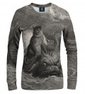 Dore Series - Monkey on a Dolphin women sweatshirt, by Paul Gustave Doré