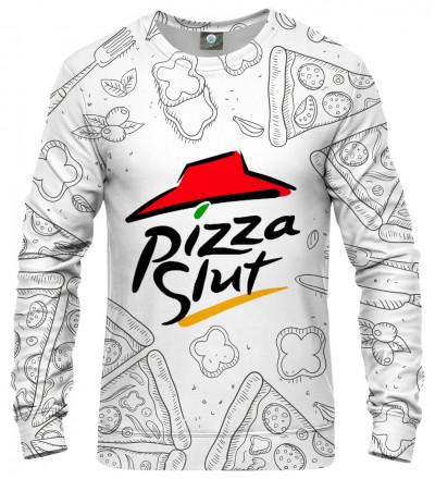sweatshirt with pizza motive