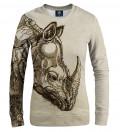 Durer Series - Rhinoceros women sweatshirt