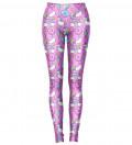 różowe legginsy z motywem jednorożców