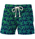 shorts with weed motive