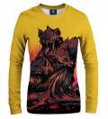 sweatshirt with demons motive