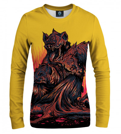 sweatshirt with demons motive