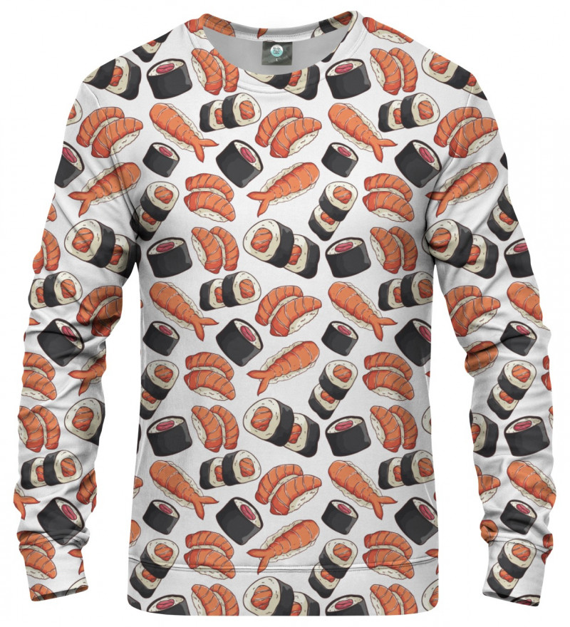 bluza z motywem sushi