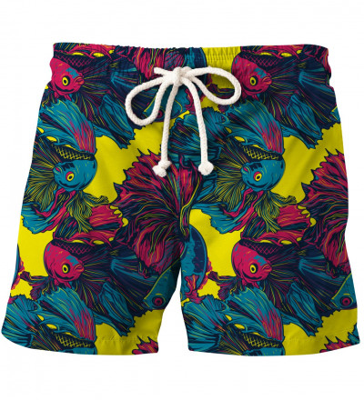 shorts with fish motive