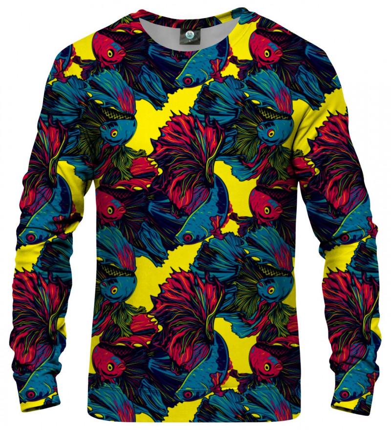 sweatshirt with fish motive