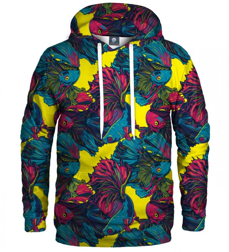 hoodie with fish motive