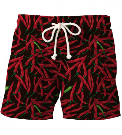shorts with chilli motive