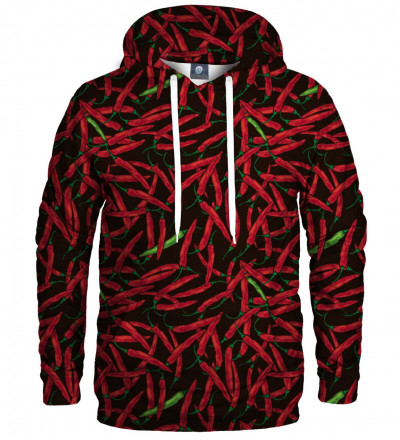 hoodie with chilli motive