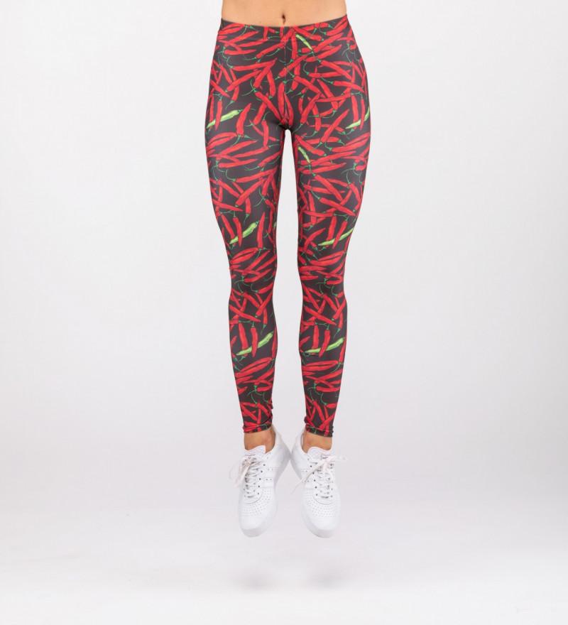 leggings with chilli motive