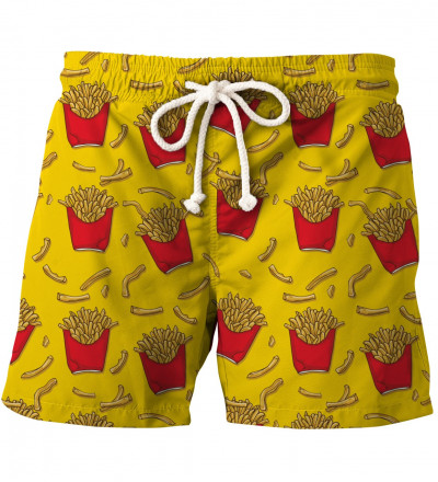 shorts with fries motive