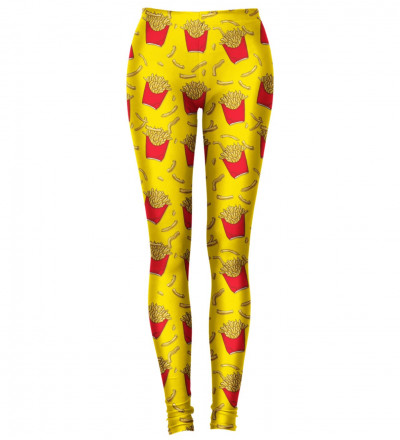 leggings with fries motive
