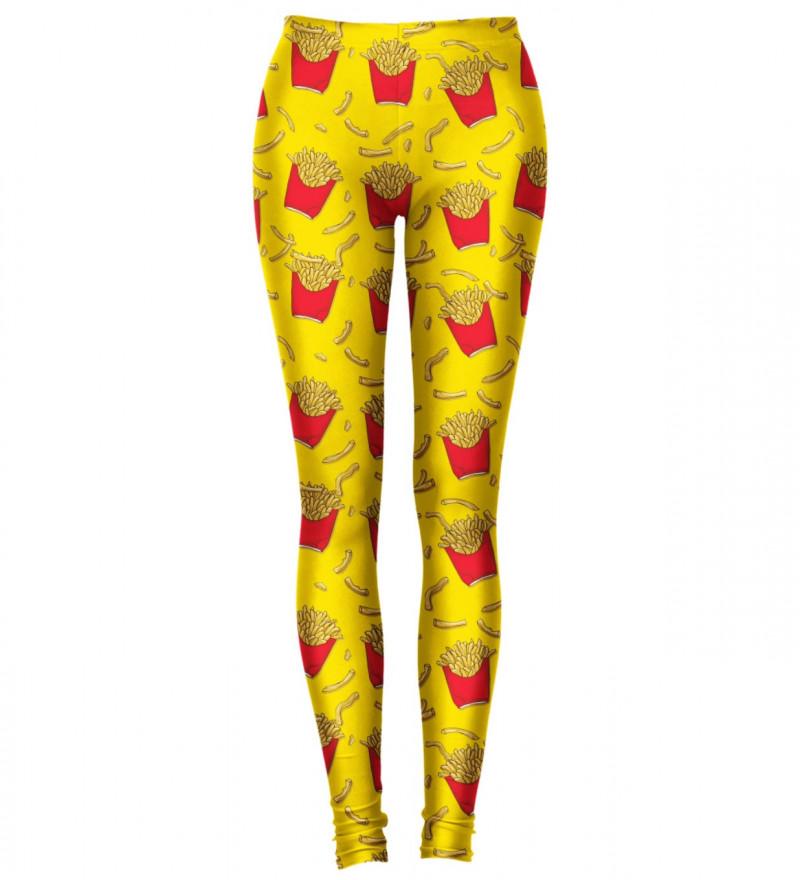 leggings with fries motive