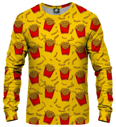 sweatshirt with fries motive
