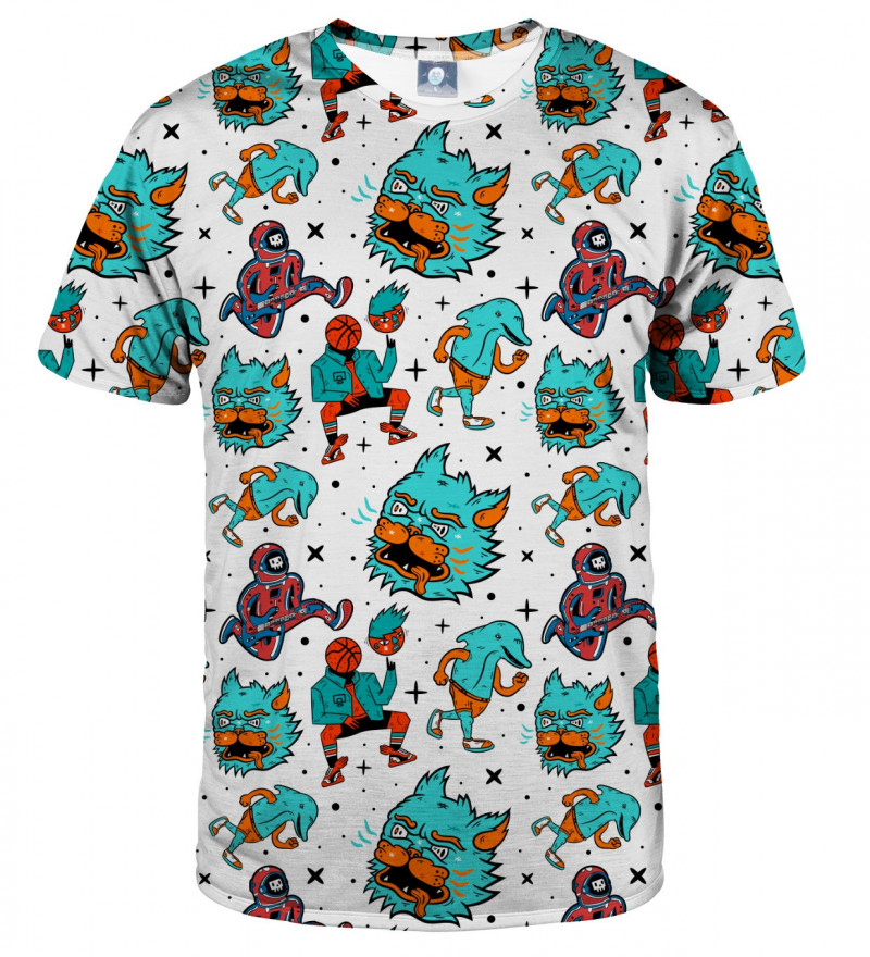 tshirt with weird monsters