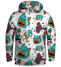hoodie with weird monsters motive