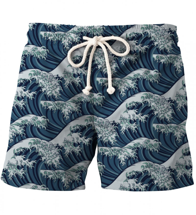shorts with waves motive