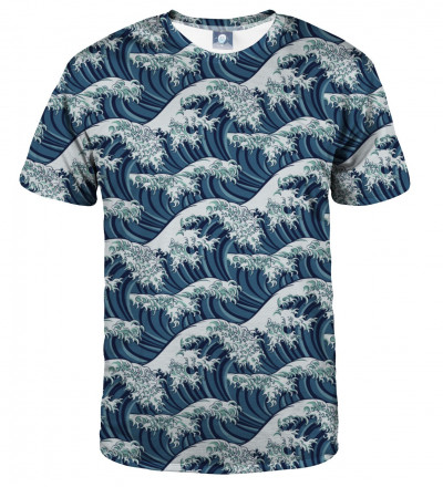 tshirt with waves motive