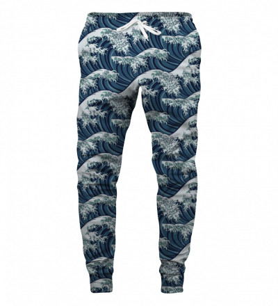 sweatpants with waves motive