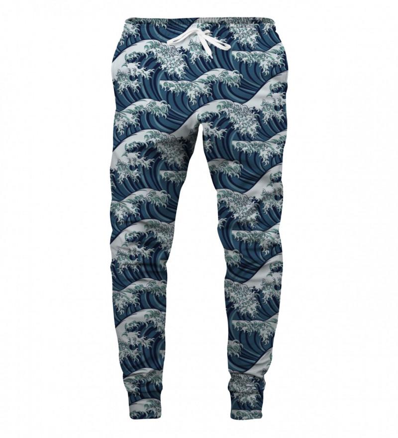 sweatpants with waves motive