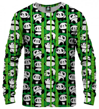 sweatshirt with pandas motive