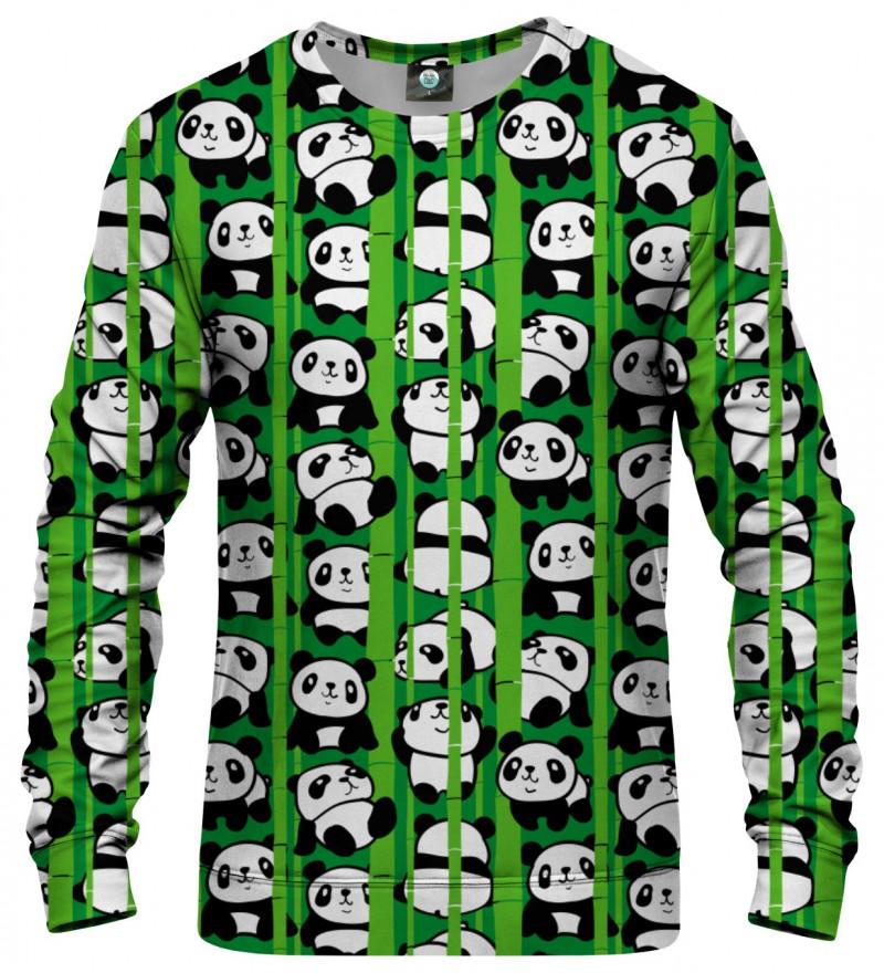 sweatshirt with pandas motive