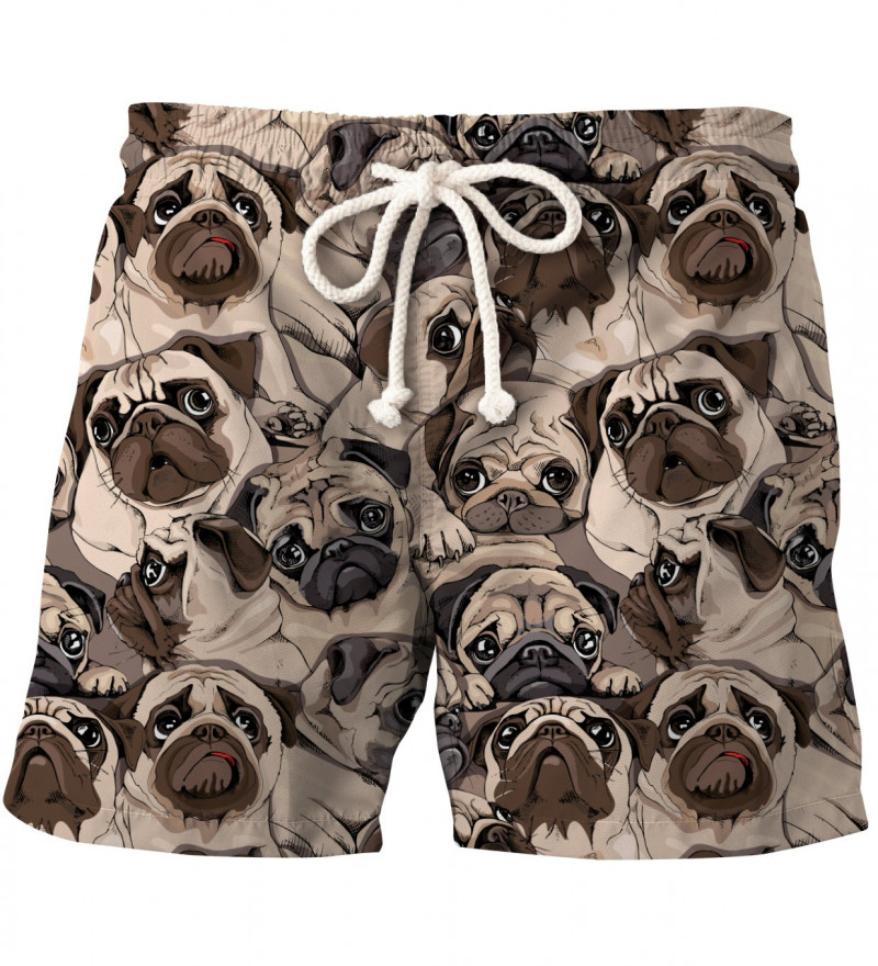 shorts with dogs motive