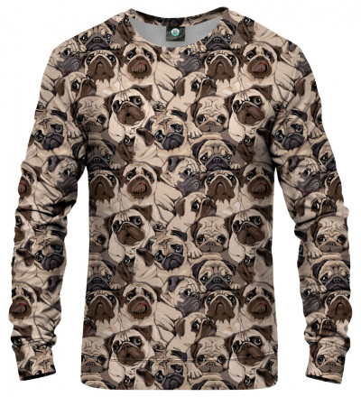 sweatshirt with dogs motive