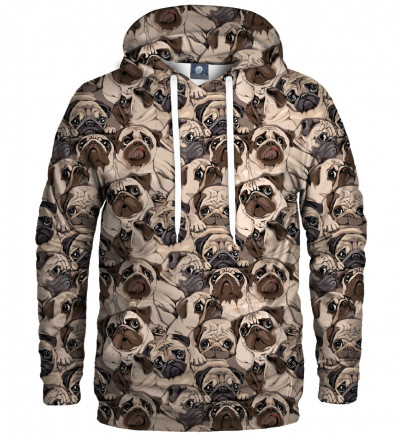 hoodie with dogs motive