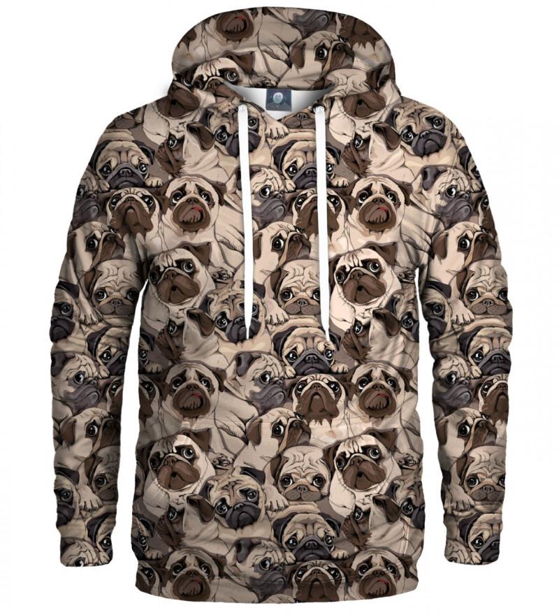 bluza z kapturem z motywem psów