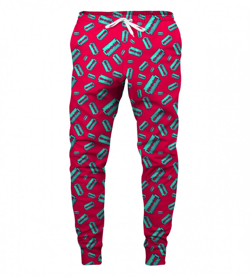 spodnie z motywem żyletek