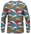 sweatshirt with waves motive