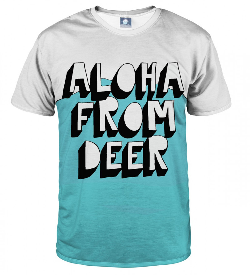 tshirt with aloha logo motive