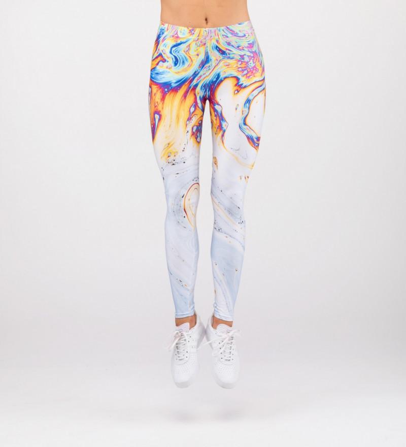 leggings with petrol motive