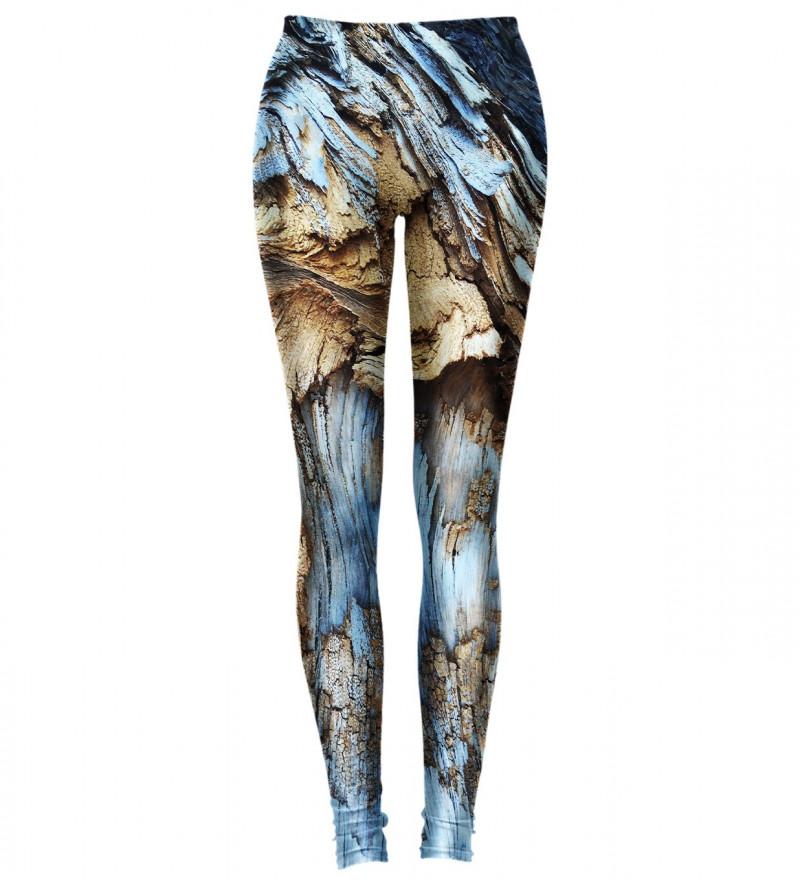 leggings with blue bark motive
