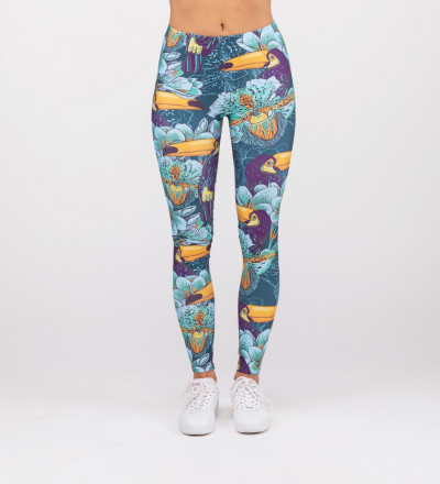 leggings with toucans motive