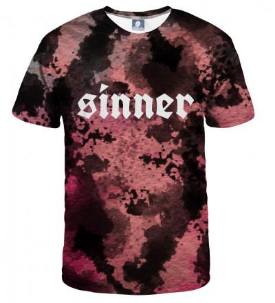 koszulka tie dye z napisem sinner