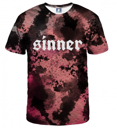 tie dye tshirt with sinner inscription