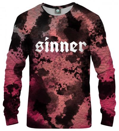 bluza tie dye z napisem sinner