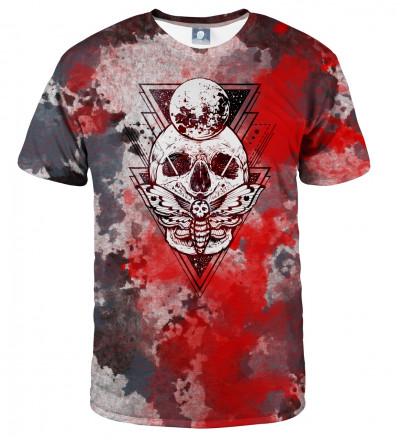 koszulka z motywem ćmy i czaszki